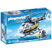 playmobil city action swat helicopter with working winch 9363