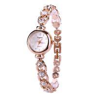 reloj de cuarzo de moda crystal alloy bracelace ladies bracelace watch reloj de pulsera para mujer
