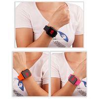 reloj de rectangulo de moda para estudiantes reloj inteligente led electronico