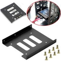 useful 25 inch ssd hdd to 35 inch metal mounting adapter bracket dock screw hard drive holder for pc hard drive enclosure