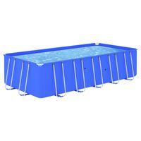 vidaxl piscina con estructura de acero azul 540x270x122 cm