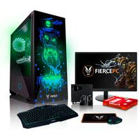 fierce gobbler rgb pc gamer - rapido 46ghz hex-core intel core i7 8700 2tb hdd 16gb de 2666mhz nvidia geforce gtx 1650 4gb teclado raton monitor de 215 pulgadas altavoces 830784