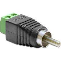 delock 65417 adaptador de cable rca 2p negro verde plata