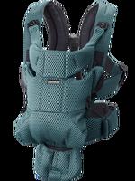 mochila porta bebe move verde grisaceo 3d mesh