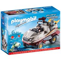 playmobil city action amphibious truck with underwater motor and functioning cannon 9364