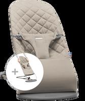 babybjorn hamaca con asiento de tela adicional - gris arena algodon