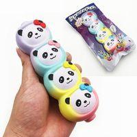 squishyfun rainbow panda candy palo squishy 15cm slow rising con embalaje coleccion de juguetes de regalo