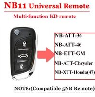 good quality 1 piecenb11 universal multi-functional kd remote 3 button nb series key for kd900 urg200 remote master