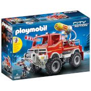 playmobil city action fire truck with cable winch and foam cannon 9466