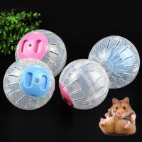 2 tamano transpirable bola clara sin soporte hamster juguete mascotas juguetes pequena bola corriente de plastico para pequeno mascotas