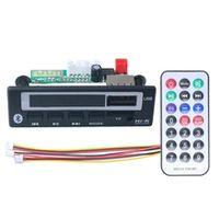 bluetooth50 mp3 wma wav decoder board 5v 12v wireless audio module color screen usb tf fm radio for car accessories