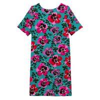 vestido recto y corto estampado de flores