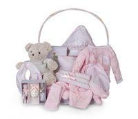 cesta bebe vintage ensueno rosa