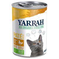 yarrah bio pate 6 x 400 g en latas para gatos - pollo ecologico