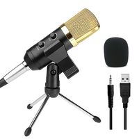 audio dynamic usb condenser grabacion de sonido vocal microfono mic con soporte de montaje