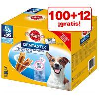 pedigree dentastix 112 uds en oferta 100  12 gratis - perros pequenos