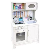 bino cocina infantil en madera de provenza blanco