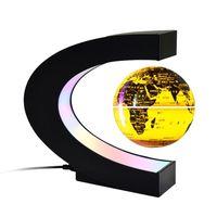 globo flotante con luces led creativo de 3 pulgadas en forma de c levitacion magnetica antigravedad mapa del mundo giratorio para ninos regalo decoracion de escritorio de oficina en casa ensenanza demostracion