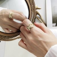 louleur 925 sterling silver zircon pull buckle open rings gold fashion wild index finger rings for women luxurious jewelry gift