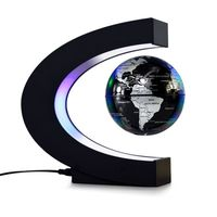 globo flotante de levitacion magnetica de 3 pulgadas globo de mapa del mundo con base en forma de c luces led para ensenar decoracion de escritorio de oficina en casa