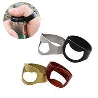 aotu24mmalairelibre edc mini anillo de dedo abridor de cerveza botella de acero inoxidable abrelatas de botella herramienta kit