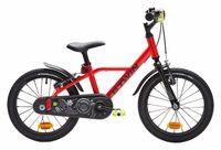 bicicleta infantil b twin 900 alu racing 16   rojo 4 6 anos