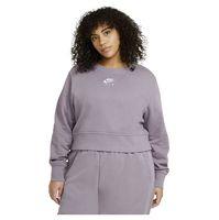 nike sportswear air crew l purple smoke  white