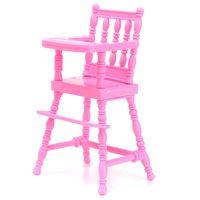 muebles de juguete silla en miniatura de color rosa para la decoracion de casa de munecas