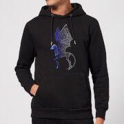 fantastic beasts tribal thestral hoodie - black - s - negro