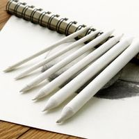 bianyo 6pcsset blending smudge stump stick tortillon sketch art white drawing charcoal sketcking tool rice paper pen supplies