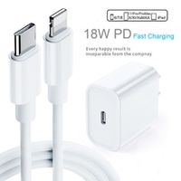 pd fast charging 18w 9v2a usb-c type-c to lightning cable charger adapter for iphone 11 11pro max x xs max xr ipad mini pro air