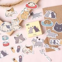 45pcsbox kawaii kitten diary mini paper stickers decoration diy scrapbook notebook album sticker stationery girl stickers