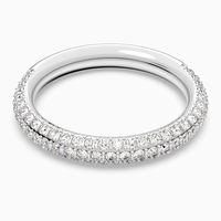 anillo stone blanco bano de rodio