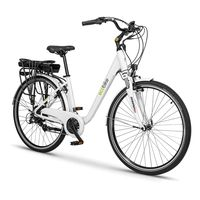 ecobike bicicleta electrica trafik 13ah one size white