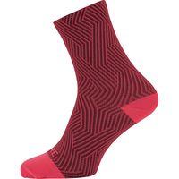 gore wear c3 mid eu 44-46 hibiscus pink  chestnut red