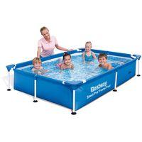 steel pro 56401 piscina sobre suelo piscina con anillo hinchable rectangular 1200 l azul