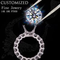 customize jewelry service 1-10 carat moissanite ruby emerald sapphire diamond ring 18k 14k 10k 9k engagement ring