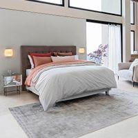 cabecero de cama estilo capitonado de lino lavado al 120 cm selve