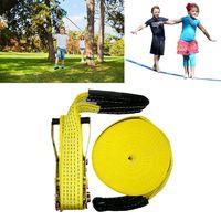 50 pies slacklines al aire libre extreme sport balance trainer slackline cuerda honda para ninos y adultos