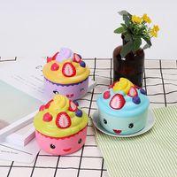 2 unids leilei squishy emoji helado strawberry fruit cup cake lento levantamiento embalaje original regalo