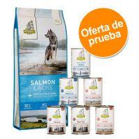 isegrim adult 12 kg pienso  6 x 400 g comida humeda - pack mixto - 12 kg green hills con pato  6 x 400 g