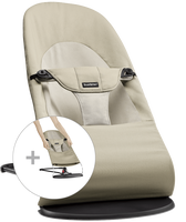 babybjorn hamaca con asiento de tela adicional - caquibeige algodon