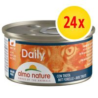 pack ahorro almo nature daily menu 24 x 85 g - mousse con atun y pollo