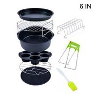 2020 new 9pcsset 678 inches air fryer accessories kitchen pizza tray grill toast rack