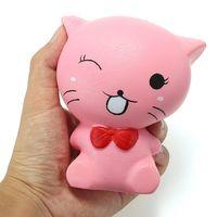 squishy gato gatito 12cm suaves lentos animales de levantamiento de dibujos animados coleccion de decoracion de regalo d
