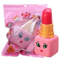 lapiz labial squishy 14  6cm soft lento aumento con el juguete de regalo de coleccion de embalaje