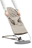 babybjorn asiento de tela adicional para hamaca bliss gris arena cotton