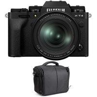 fujifilm x-t4 negro  xf 16-80mm f4 r ois wr  bolsa  2 anos de garantia