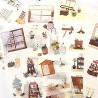 6 sheetspack snow man diy decorative stickers scrapbooking diary album decor stick label