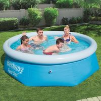 bestway vidaxl piscina redonda inflable fast set 244x66 cm 57265